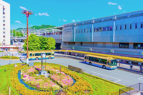 川西能勢口駅すぐ、通いやすい立地